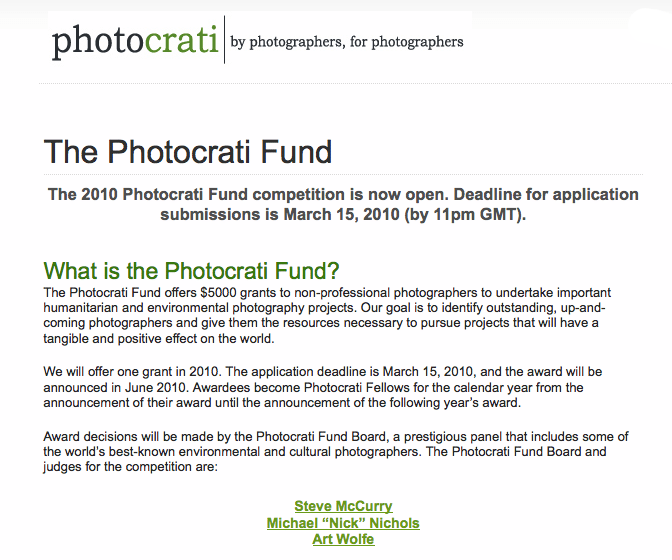 Your chance at a start in humanitarian photography