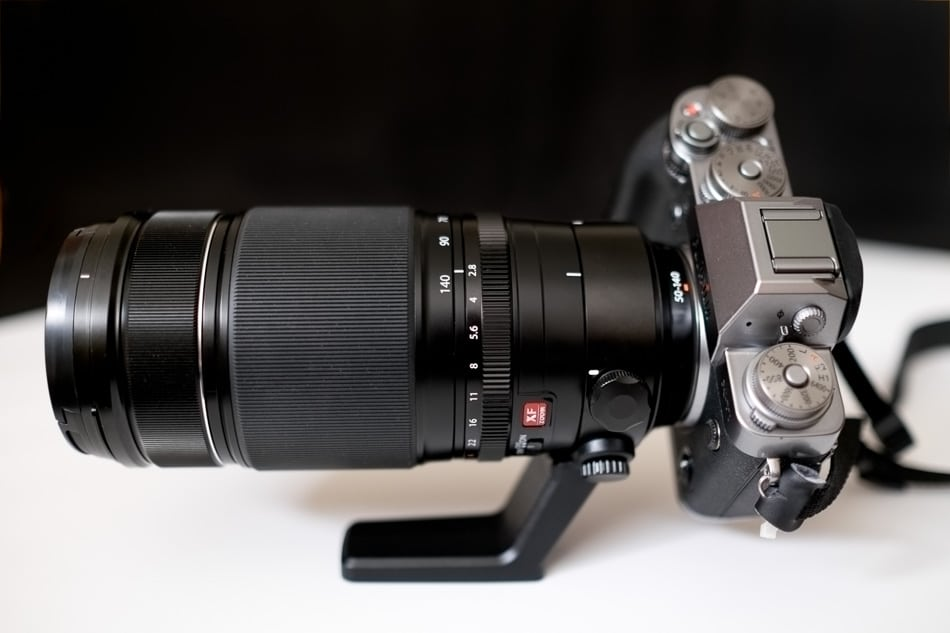 Fujinon 50-140mm f2.8 LM OIS WR with Tripod Collar.