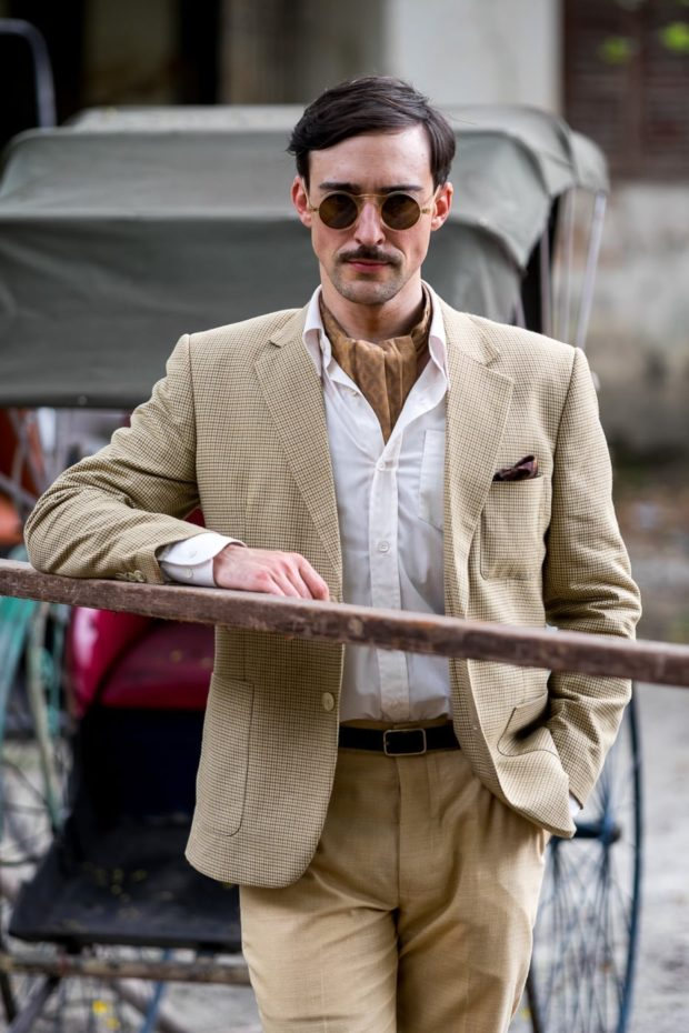 Actor Blake Ritson new to the cast this season.