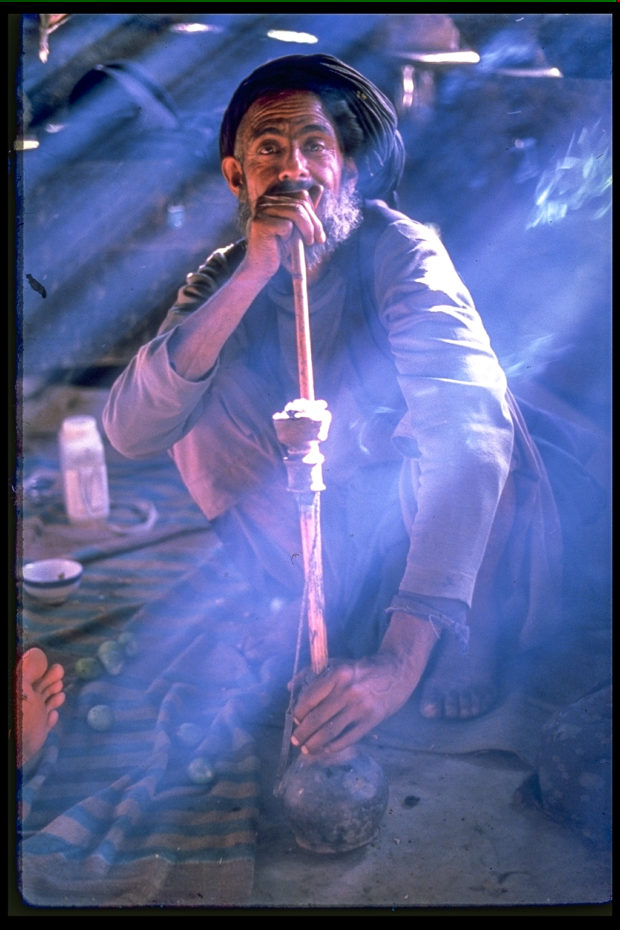 Bakarwal Gujjar 1989 - Photographed on slide film. I am guessing Ektachrome given the blues.