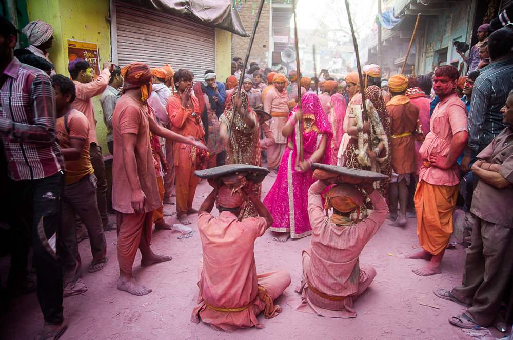 Lath Mar Holi, Rajasthan, India