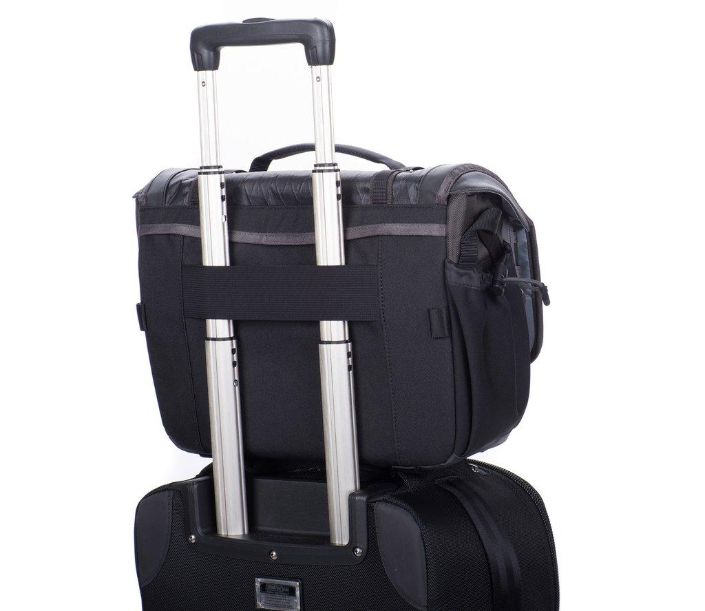 Luggage handle pass-through